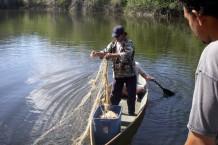 Setting a net