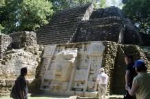 Visiting Mask Temple during the Maya Ruins Tour